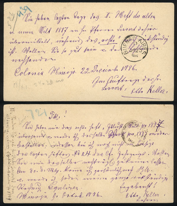 Lot 1681 - Argentina postal history -  Guillermo Jalil - Philatino Auction # 2134 ARGENTINA: Fun auction including rarities of all periods