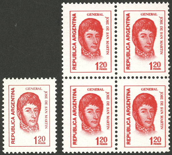 Lot 76 - Argentina general issues -  Guillermo Jalil - Philatino Auction # 2136 ARGENTINA: Selection of good pieces of the Tumarkin collection (part I)