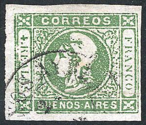 Lot 4 - Argentina cabecitas -  Guillermo Jalil - Philatino Auction # 2137 ARGENTINA: Special October auction