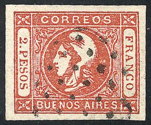 Lot 6 - Argentina cabecitas -  Guillermo Jalil - Philatino Auction # 2137 ARGENTINA: Special October auction