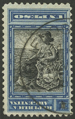 Lot 69 - Argentina general issues -  Guillermo Jalil - Philatino Auction # 2137 ARGENTINA: Special October auction