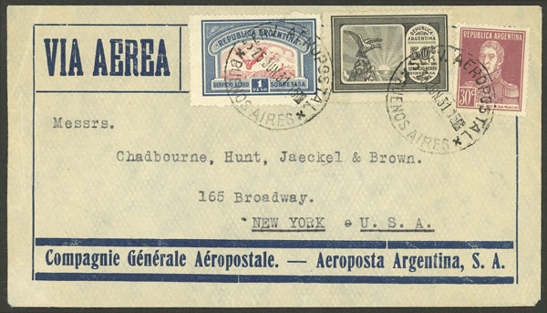 Lot 211 - Argentina postal history -  Guillermo Jalil - Philatino Auction # 2137 ARGENTINA: Special October auction