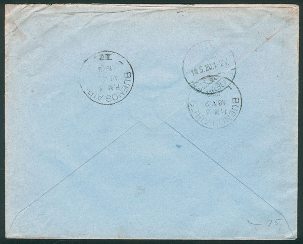 Lot 205 - Argentina postal history -  Guillermo Jalil - Philatino Auction # 2137 ARGENTINA: Special October auction