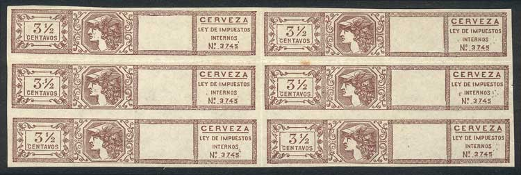 Lot 217 - Argentina revenue stamps -  Guillermo Jalil - Philatino Auction # 2137 ARGENTINA: Special October auction