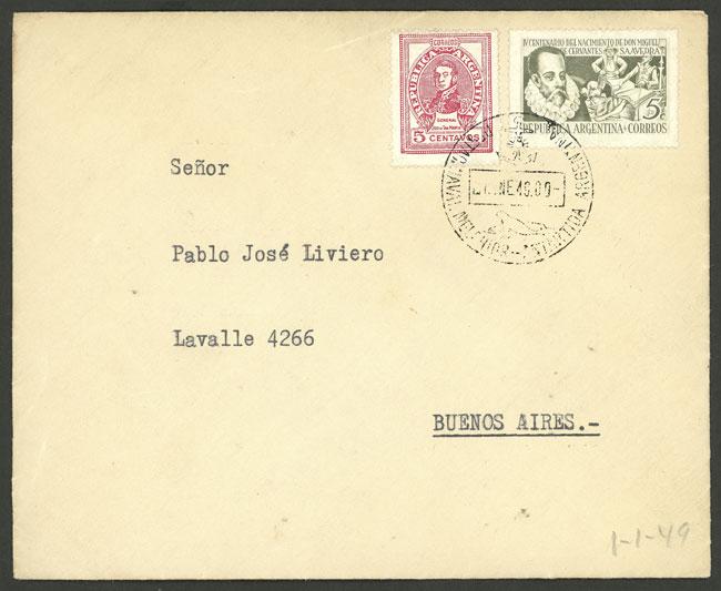 Lot 2 - argentine antarctica postal history -  Guillermo Jalil - Philatino Auction # 2138 ARGENTINA: