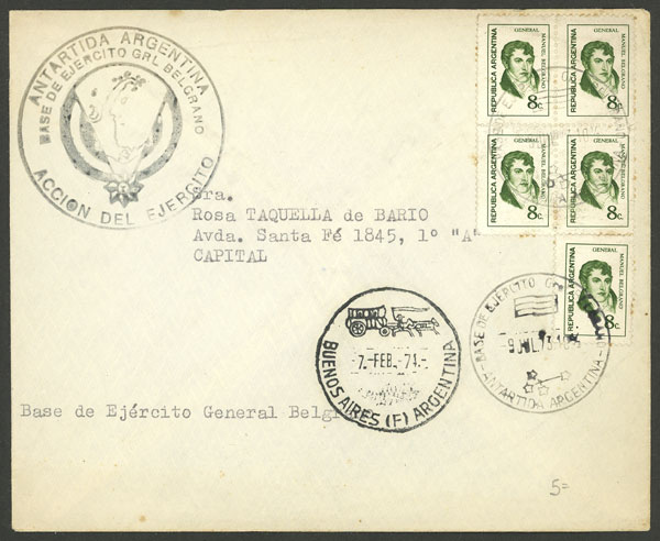 Lot 4 - argentine antarctica postal history -  Guillermo Jalil - Philatino Auction # 2138 ARGENTINA: