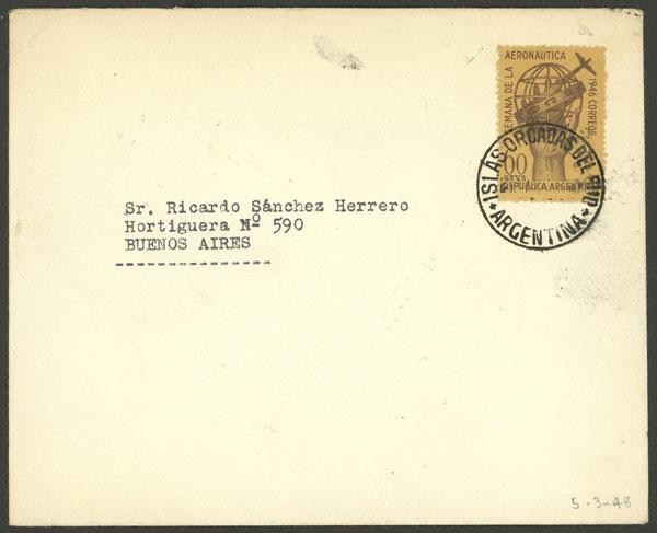 Lot 11 - ARGENTINE ANTARCTICA - ORCADAS postal history -  Guillermo Jalil - Philatino Auction # 2138 ARGENTINA: