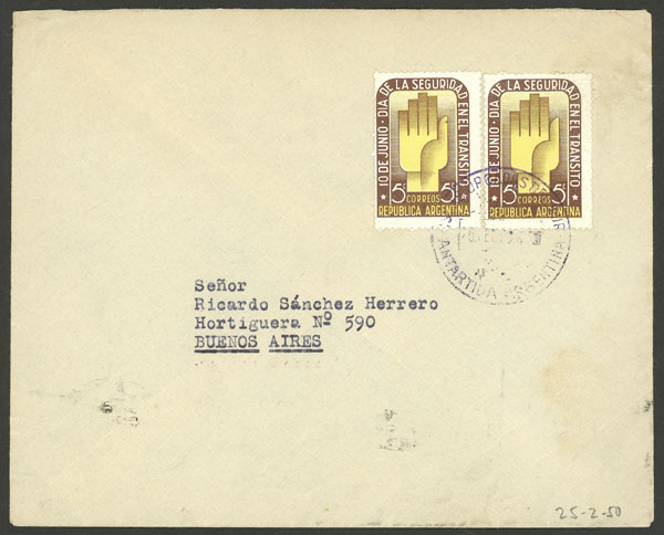 Lot 18 - ARGENTINE ANTARCTICA - ORCADAS postal history -  Guillermo Jalil - Philatino Auction # 2138 ARGENTINA: