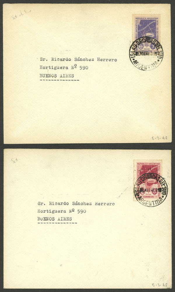 Lot 12 - ARGENTINE ANTARCTICA - ORCADAS postal history -  Guillermo Jalil - Philatino Auction # 2138 ARGENTINA: