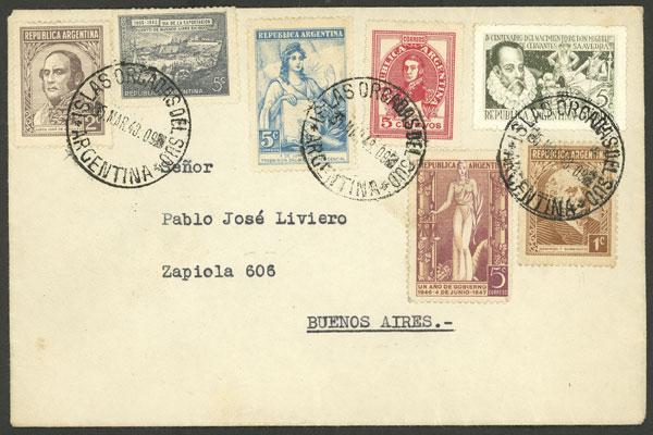 Lot 13 - ARGENTINE ANTARCTICA - ORCADAS postal history -  Guillermo Jalil - Philatino Auction # 2138 ARGENTINA: