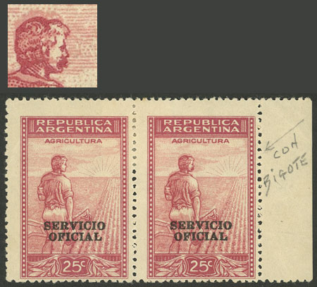 Lot 838 - Argentina official stamps -  Guillermo Jalil - Philatino Auction # 2138 ARGENTINA: