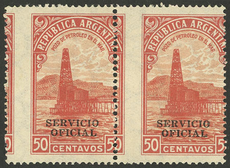 Lot 827 - Argentina official stamps -  Guillermo Jalil - Philatino Auction # 2138 ARGENTINA: