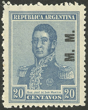 Lot 816 - Argentina official stamps -  Guillermo Jalil - Philatino Auction # 2138 ARGENTINA:
