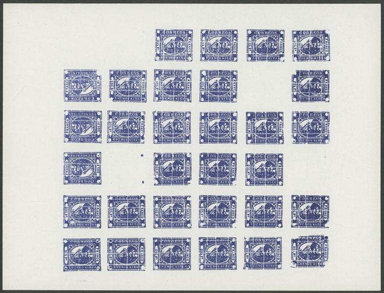 Lot 19 - Argentina barquitos -  Guillermo Jalil - Philatino Auction # 2138 ARGENTINA: