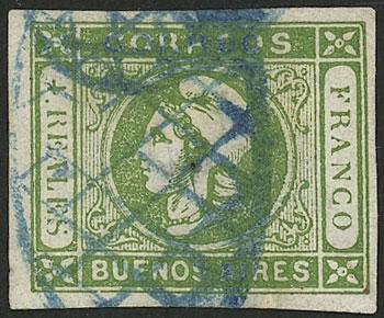 Lot 23 - Argentina cabecitas -  Guillermo Jalil - Philatino Auction # 2138 ARGENTINA: