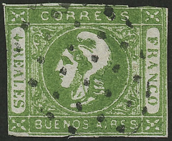Lot 24 - Argentina cabecitas -  Guillermo Jalil - Philatino Auction # 2138 ARGENTINA:
