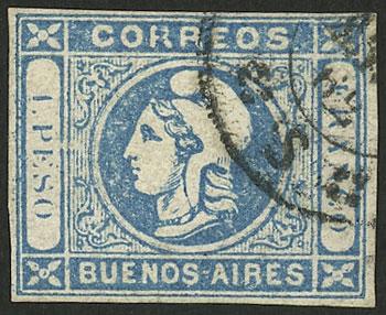 Lot 25 - Argentina cabecitas -  Guillermo Jalil - Philatino Auction # 2138 ARGENTINA: