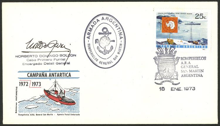 Lot 3 - argentine antarctica postal history -  Guillermo Jalil - Philatino Auction # 2138 ARGENTINA: