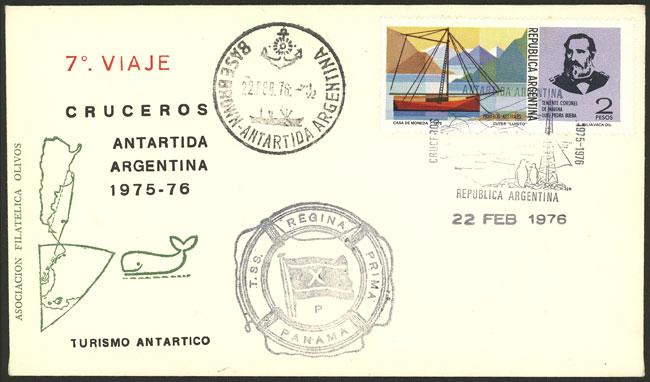 Lot 5 - argentine antarctica postal history -  Guillermo Jalil - Philatino Auction # 2138 ARGENTINA: