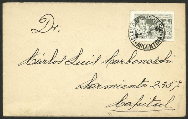Lot 10 - ARGENTINE ANTARCTICA - ISLAS ORCADAS postal history -  Guillermo Jalil - Philatino Auction # 2138 ARGENTINA: