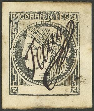 Lot 14 - Argentina corrientes -  Guillermo Jalil - Philatino Auction # 2139 ARGENTINA: Mini October sale