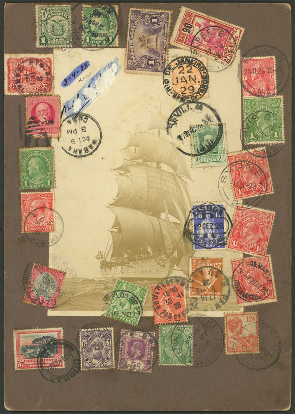 Lot 4 - topic ships postal history -  Guillermo Jalil - Philatino Auction # 2141 WORLDWIDE + ARGENTINA: General November auction