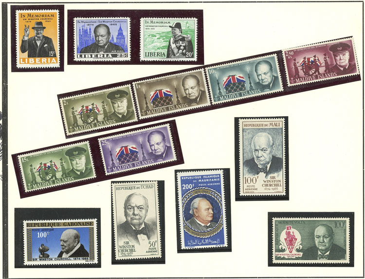 Lot 7 - TOPIC CHURCHILL Lots and Collections -  Guillermo Jalil - Philatino Auction # 2141 WORLDWIDE + ARGENTINA: General November auction