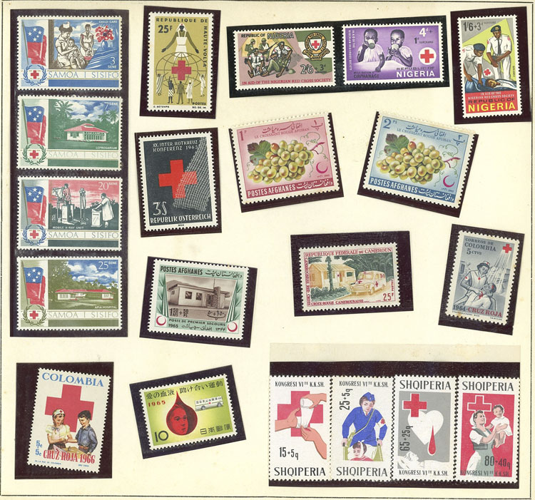 Lot 8 - topic red cross Lots and Collections -  Guillermo Jalil - Philatino Auction # 2141 WORLDWIDE + ARGENTINA: General November auction