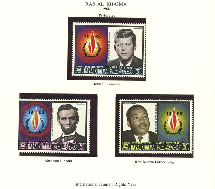 Lot 24 - TOPIC KENNEDY Lots and Collections -  Guillermo Jalil - Philatino Auction # 2141 WORLDWIDE + ARGENTINA: General November auction