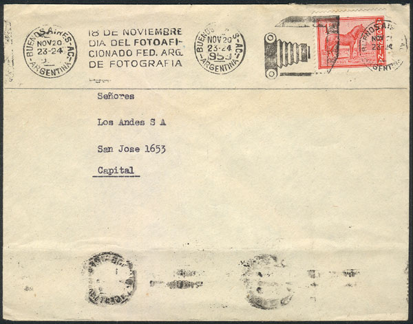 Lot 13 - topic photography postal history -  Guillermo Jalil - Philatino Auction # 2141 WORLDWIDE + ARGENTINA: General November auction